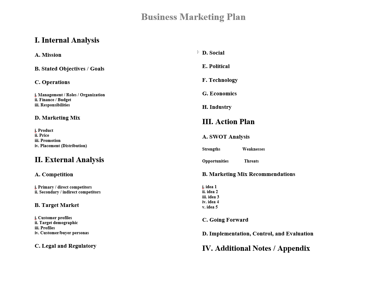 my first marketing plan walt rumpf